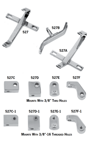 Chrome Headlight Mounting Brackets