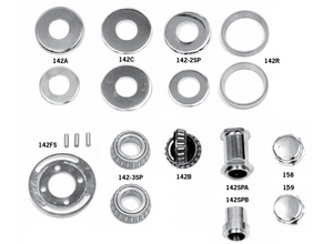 Fork Stem Bearings, Covers And Cap Nuts For Big Twins And Sportsters