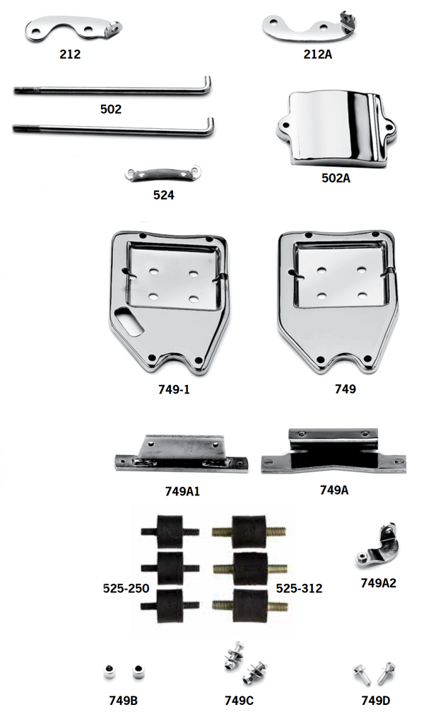 Oil Tank Mounting Hardware And Brackets