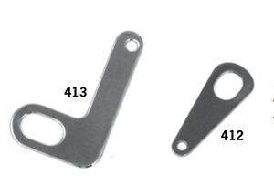 Oil Tank Chrome Support Brackets