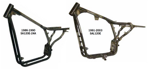 Paughco Swingarm Frames For 1986 Thru 2003 Evolution Sportsters