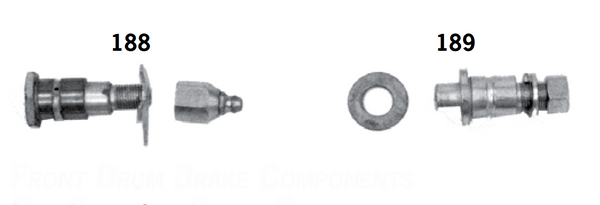 Front Drum Brake Components For Springer Front Ends