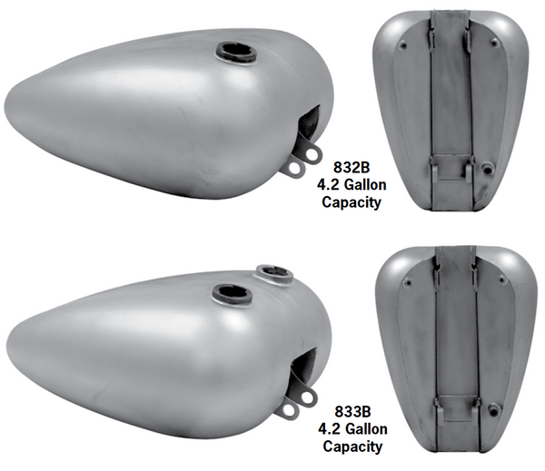 One-Piece Fat Bob Tanks With Screw-In Bungs For 1982-2003 Sportsters