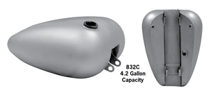 One-Piece Fat Bob Tanks With Cam-Style Bungs For 1982-2003 Sportsters