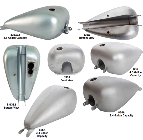 One-Piece Fat Bob Tanks For 2004-Up Sportster Models