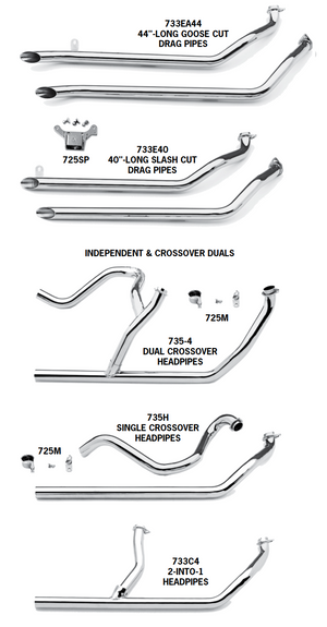Shovelhead Exhaust Systems For 1980 - 1983 5-Speed Touring Models