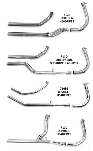 Shovelhead Squish Pipe Headpipe Sets For 1966-1969 Rigid Frames