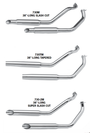 FX Model Shovelhead Over The Transmission Exhaust Systems For 1971 - 1984 Swingarm Frames