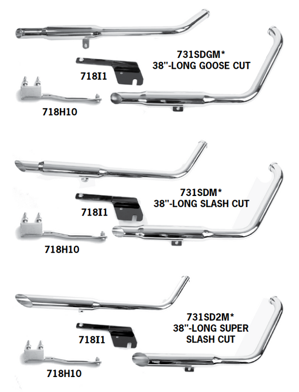 Shotgun Exhaust Systems For 1984 - 1999 Evolution Softails