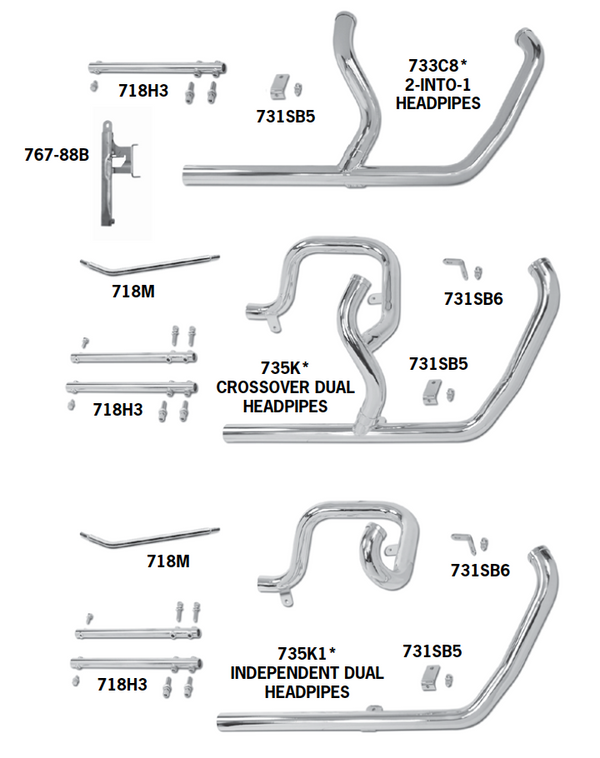 Headpipe Sets For 2000 - 2006 Twin Cam Softails
