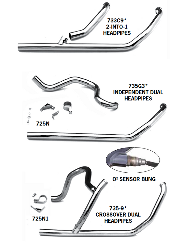 Exhaust Systems For 2007 - 2009 Touring Models
