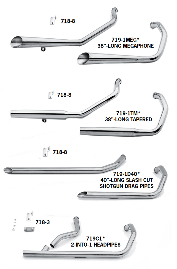 Exhaust Systems For 1986 - 2003 Evolution Sportsters