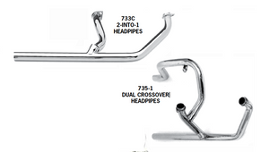 Independent and Crossover Pipes For 1970 - 1984 Shovelhead