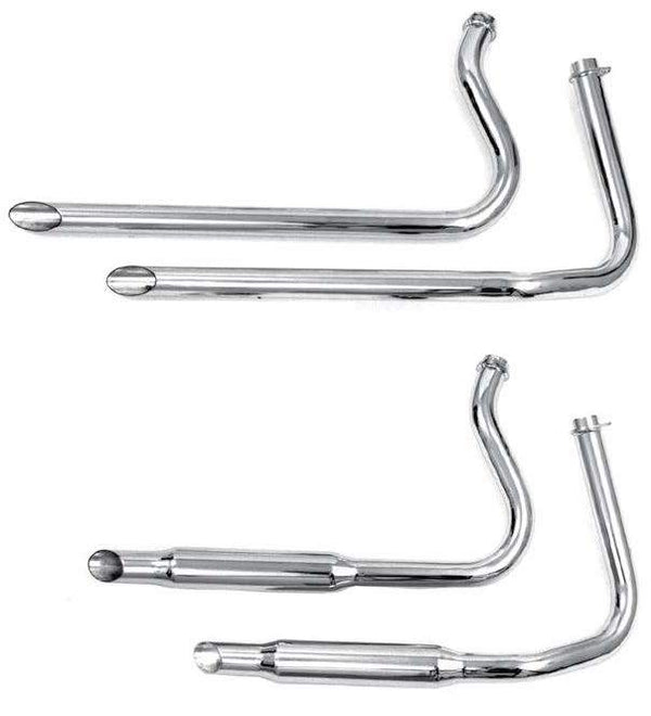 Shovelhead Staggered Dual Exhaust Systems For 1966 - 1969 Swingarm Frames