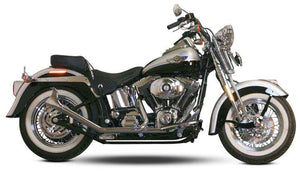 Side by Side Upswept Fishtail Exhaust Systems For 2000 - 2017 Twin Cam Softails
