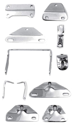 Paughco Headlight Mounting Brackets For Wide Glide And Springer Forks