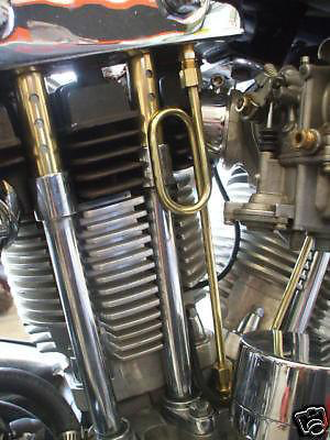 OLD STF IRONHEAD SPORTSTER ROCKER BOX OIL LOOP LINE