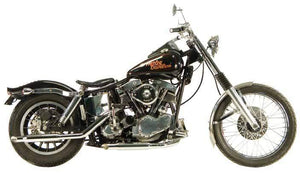 Shovelhead Over The Transmission Muffler Exhaust Systems For 1966 - 1969
