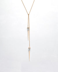 Split Ends Domed Spike Lariat