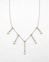 Medallion Diamond T-Drop Necklace