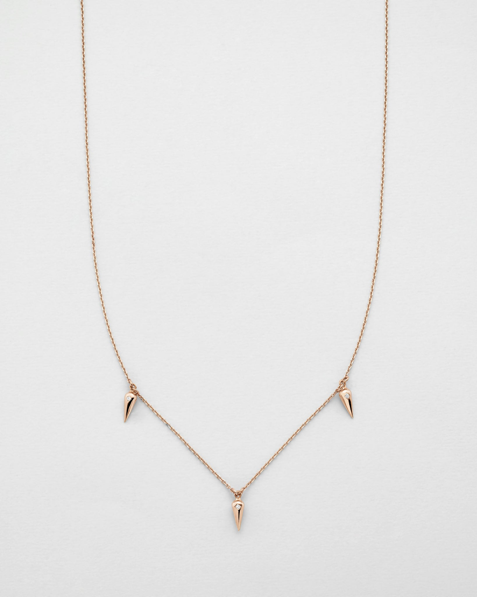 Chain Reaction Trio Pendulum Necklace