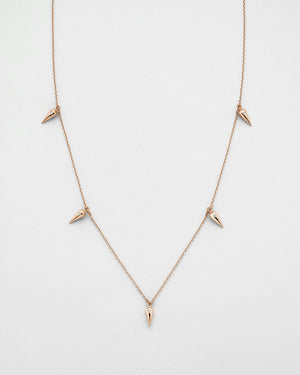 Chain Reaction Pendulum Quintet Necklace