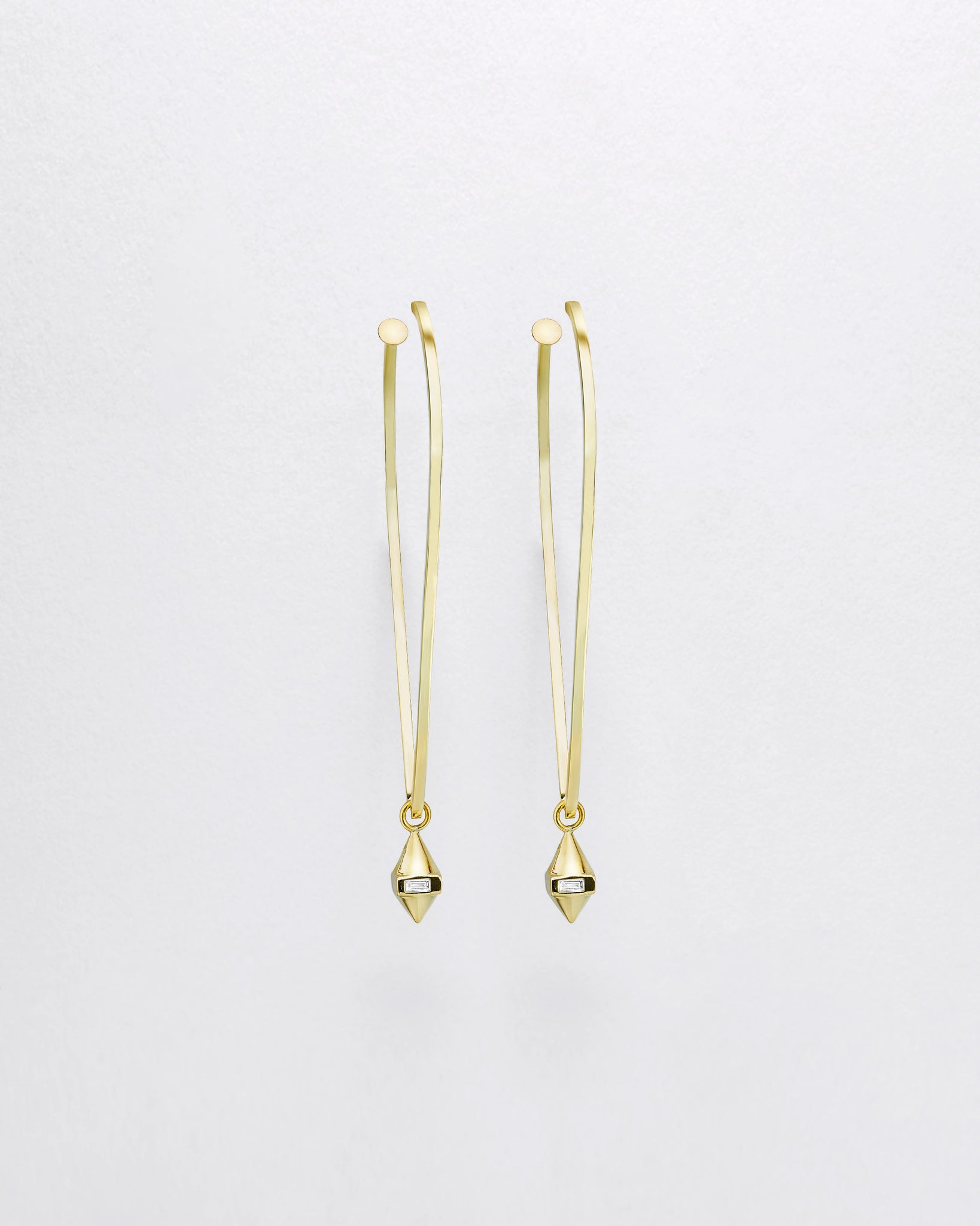 Inverted Teardrop Hula Charm Earrings