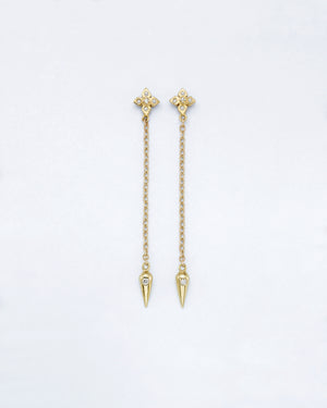 Chain Reaction Clover Pendulum Earrings