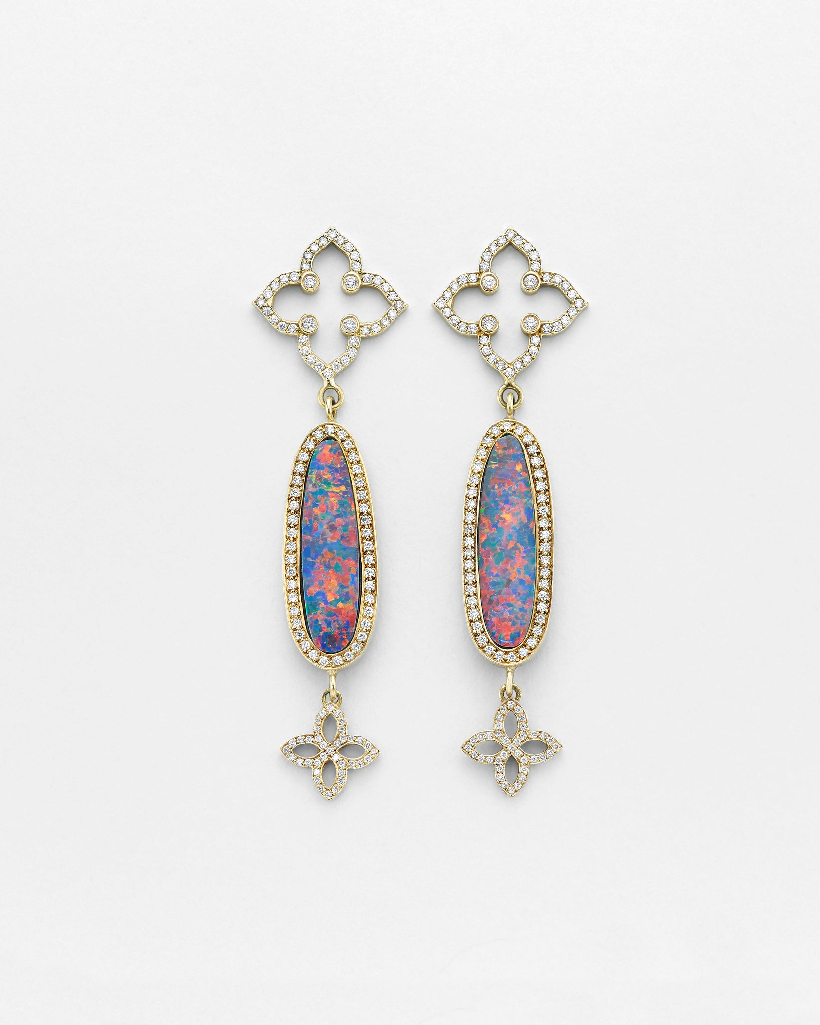 La Crème Opal Oval Earrings