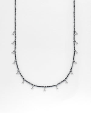 Strung Out Black Triangle Necklace