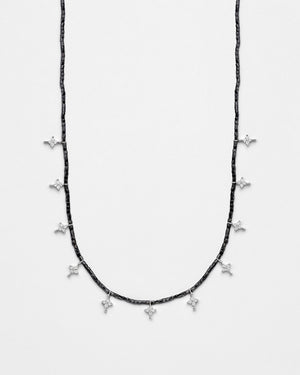 Strung Out Black Twinkling Star Necklace