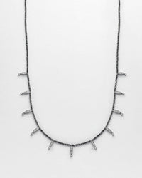 Strung Out Black Marquise Necklace