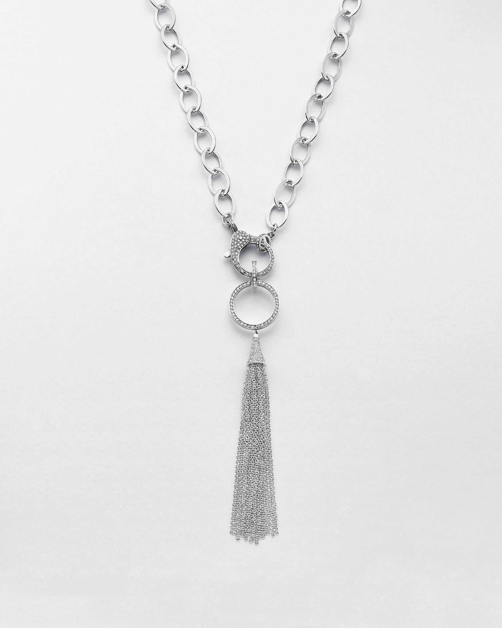 Circle Softly Tassle Necklace
