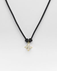 Black Butter Jumbo Clover Necklace