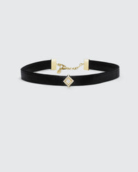 Black Butter Princess Pave Choker