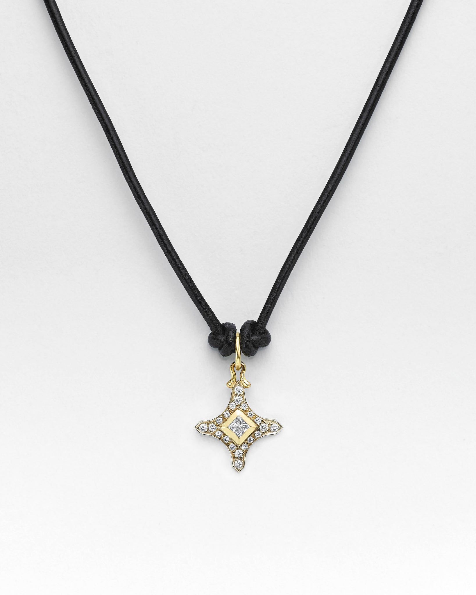 Black Butter Clover Croix Necklace