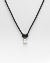 Black Butter Cowbell Necklace