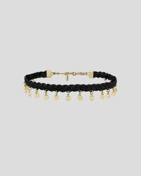Braided Black Butter Medallion Choker
