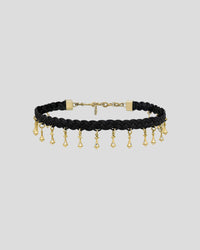Braided Black Butter Pendulum Bell Choker