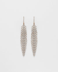 Fine Feather Medium Earrings