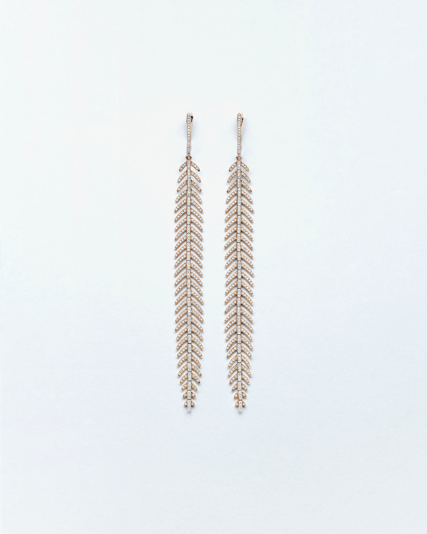 Fine Feather Long Earrings