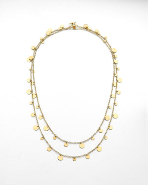 Sliced Gold Disc Necklace