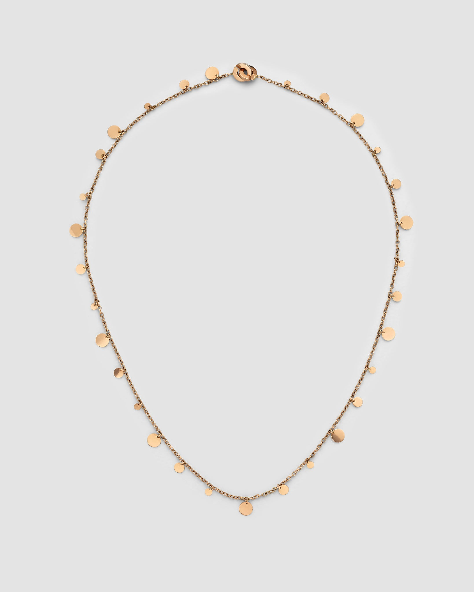 Petite Sliced Gold Disc Necklace
