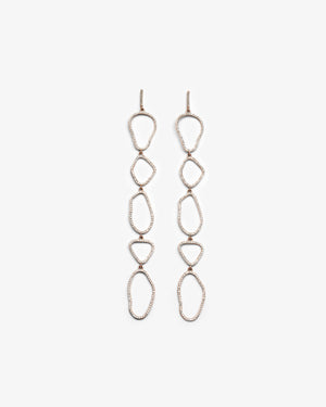 Circle Softly Diamond Earrings