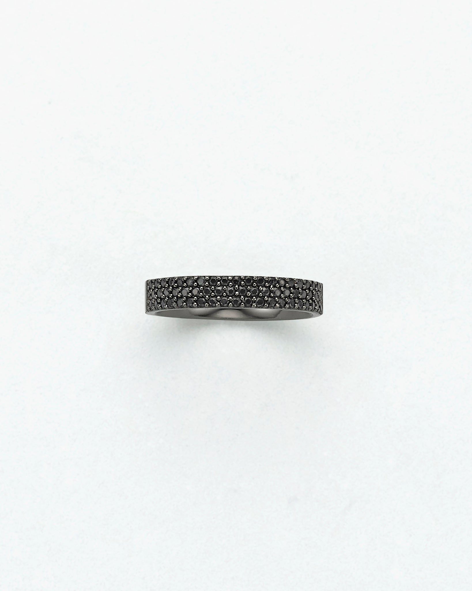 Black Diamond Midi Ring