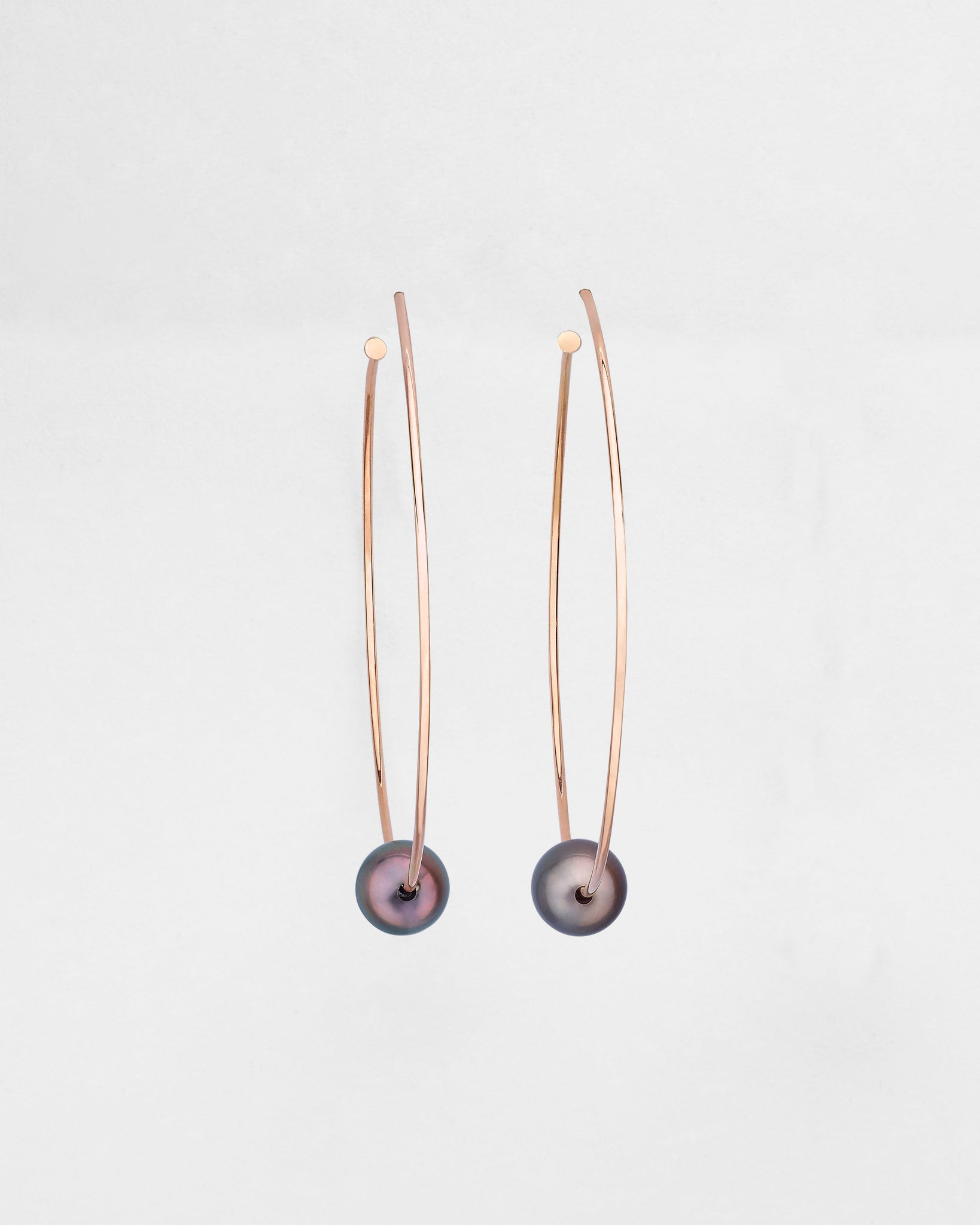 Hula Tahitian Pearl Charm Earrings