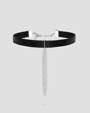 Black Butter Fine Feather Choker