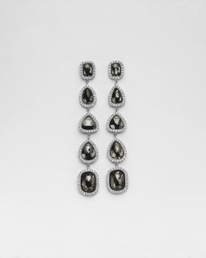La Crème Black Diamond Earrings