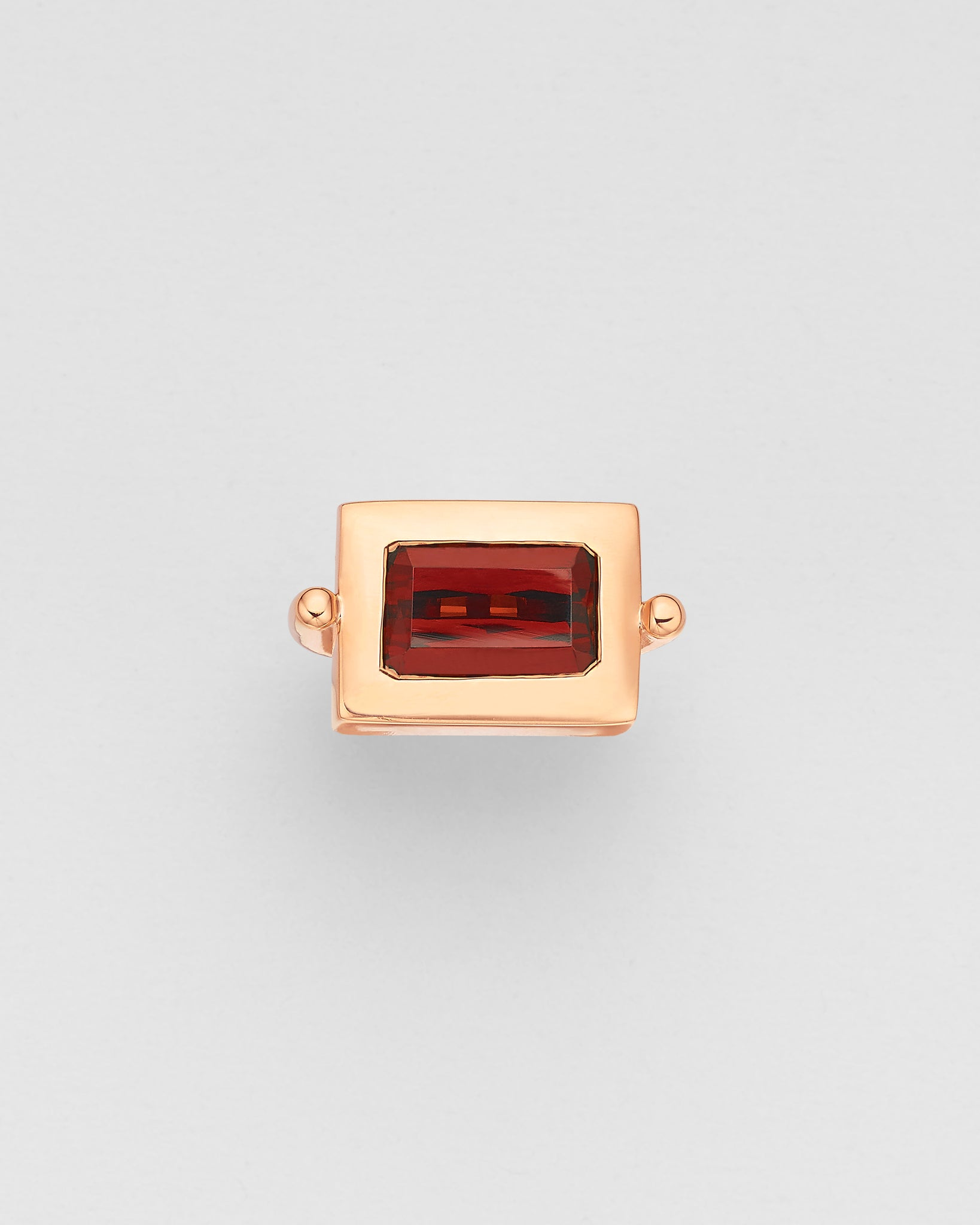 La Crème Red Rhodolite Cocktail Ring