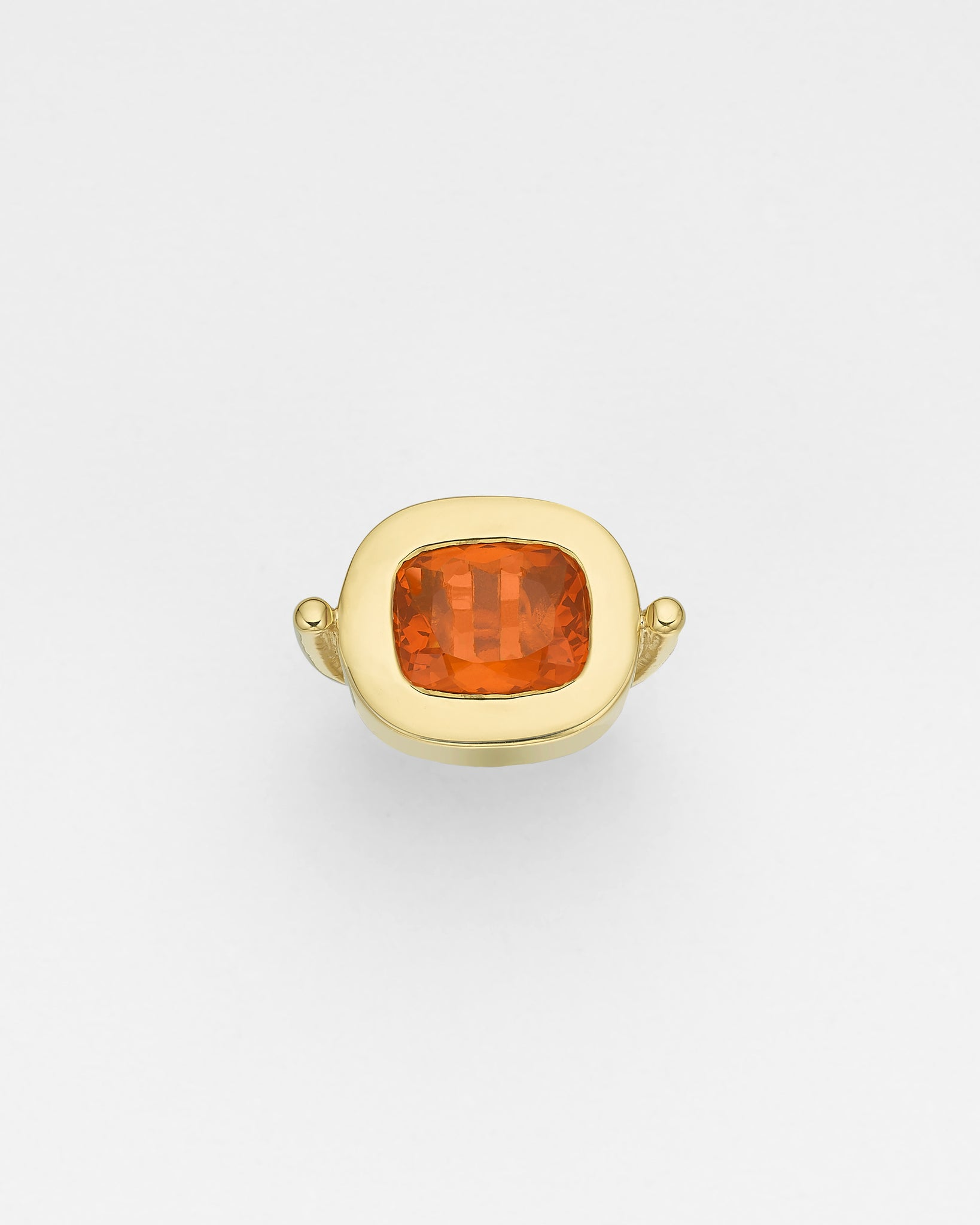 La Crème Orange Opal Cocktail Ring